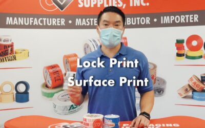 Lock and Surface Custom Printed Tapes | What are the Differences?